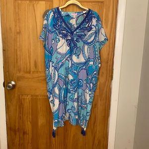 Lilly Pulitzer Silk Caftan Style T-shirt Dress